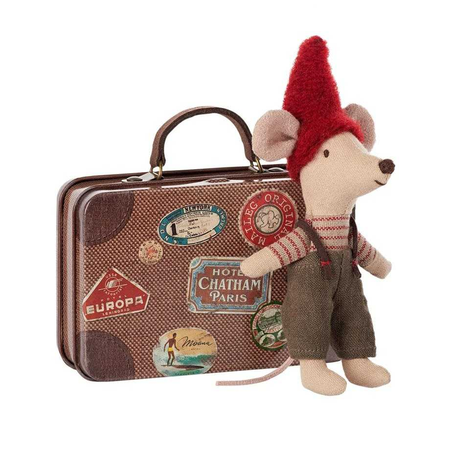 Maileg Christmas Mouse with Suitcase