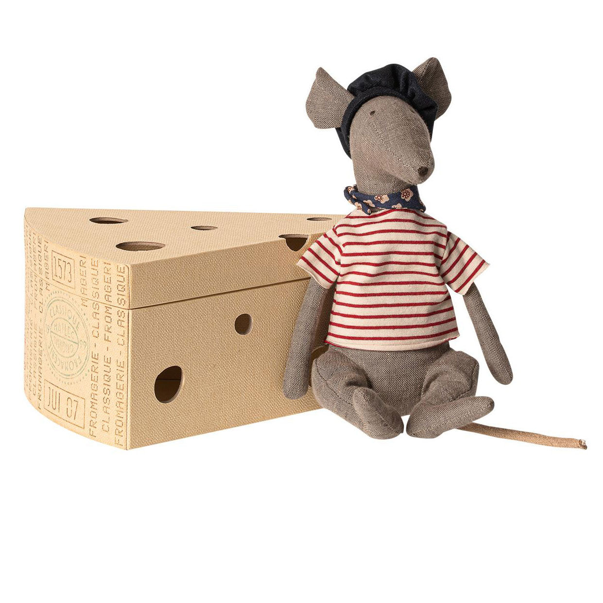 Maileg Rat in Cheese Box at Bonjour Baby Baskets