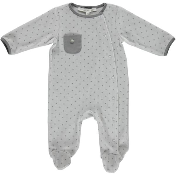 Neutral Velour Baby Sleeper made in Spain perfect addition to your BYOB (Build Your Own Basket)