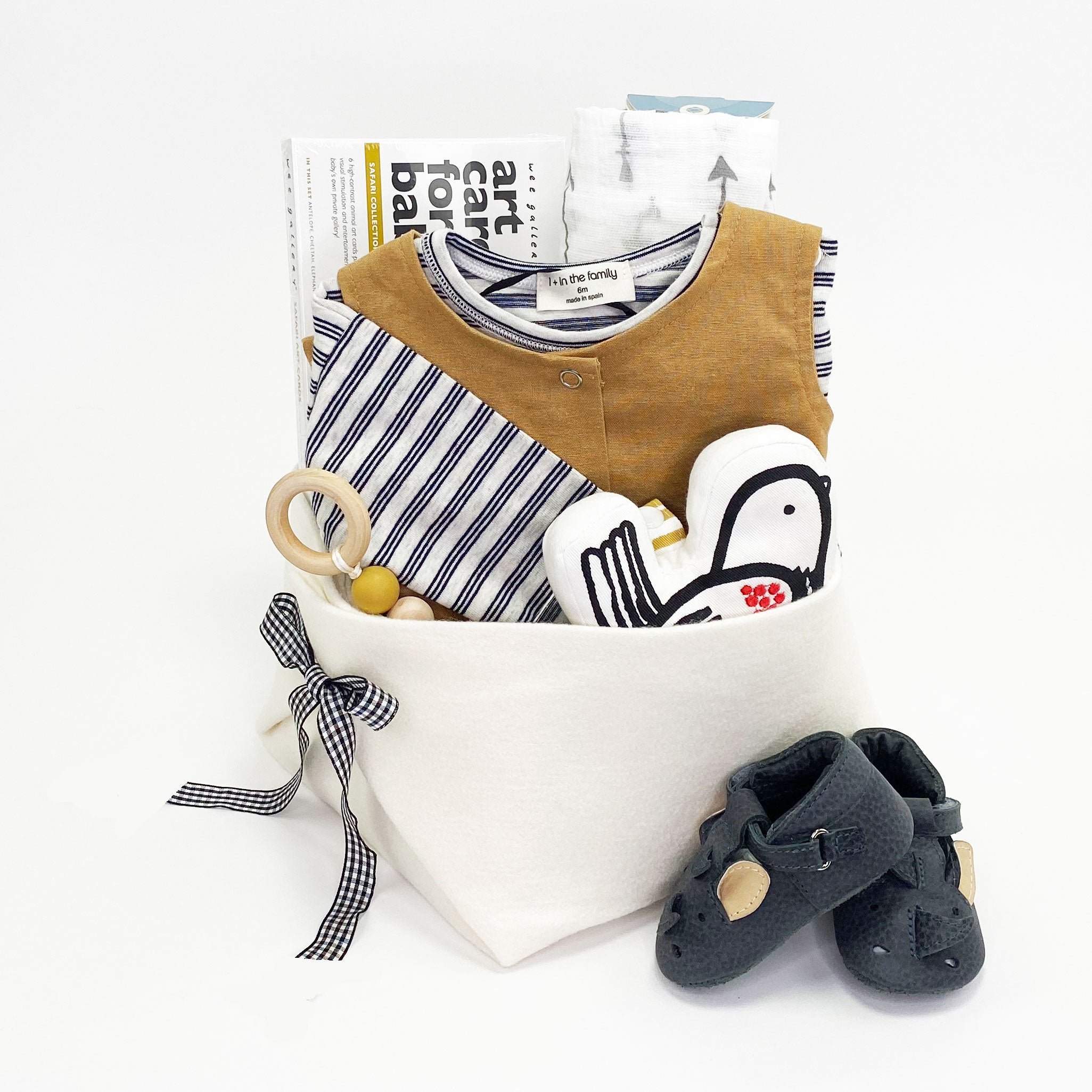 Trendy Baby Gift Basket at Bonjour Baby Baskets, perfect Baby Shower Gift Idea