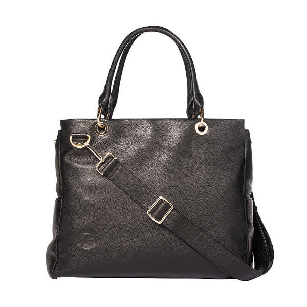 Leather Diaper Bag at Bonjour Baby Baskets - Best Baby Gifts
