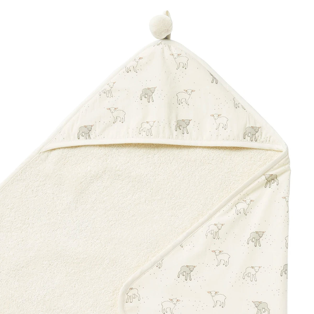 Pehr Design Lamb Hooded Baby Towel at Bonjour Baby Baskets