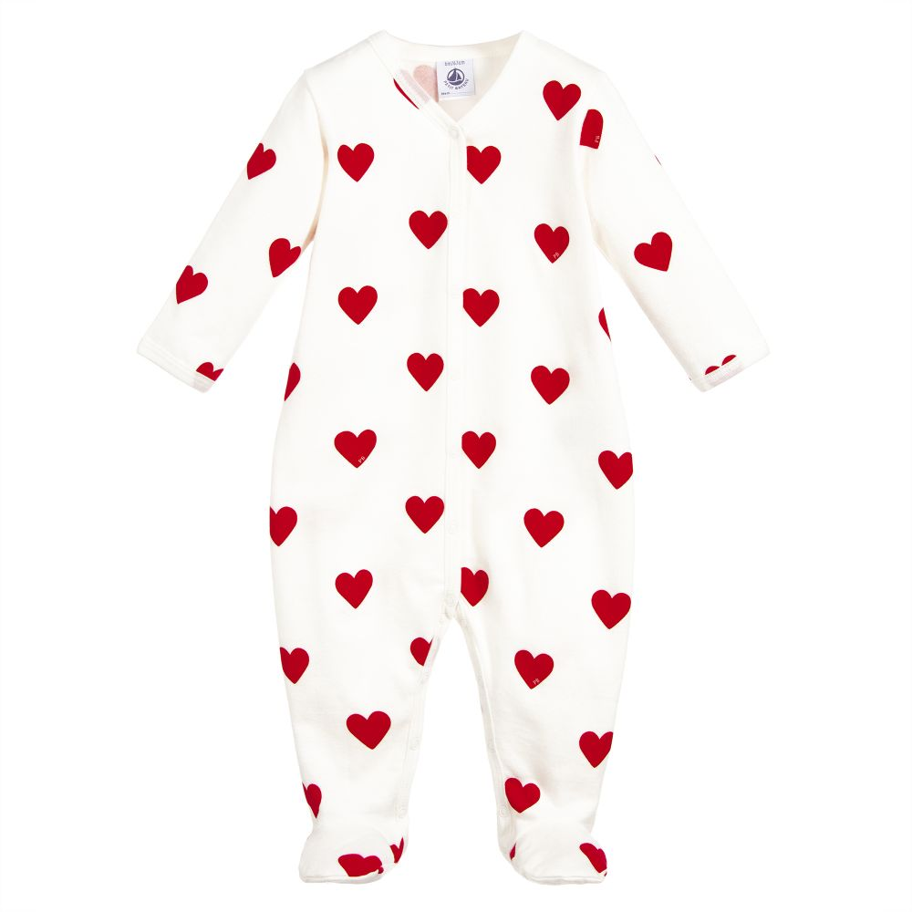 Heart Baby Sleeper by Petit Bateau. Best Corporate Baby Gifts