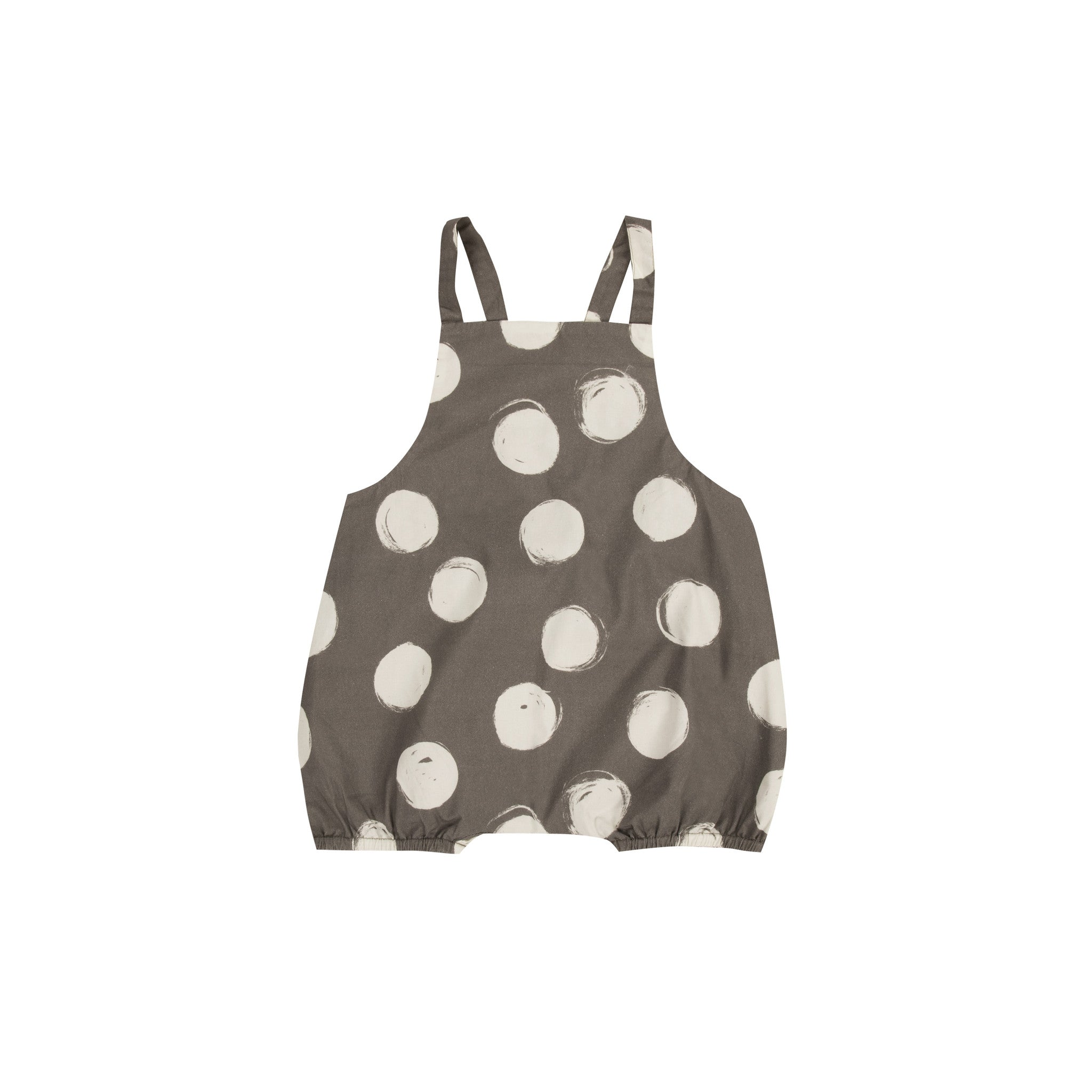 Big dots romper by Rylee and Cru at Bonjour Baby Baskets