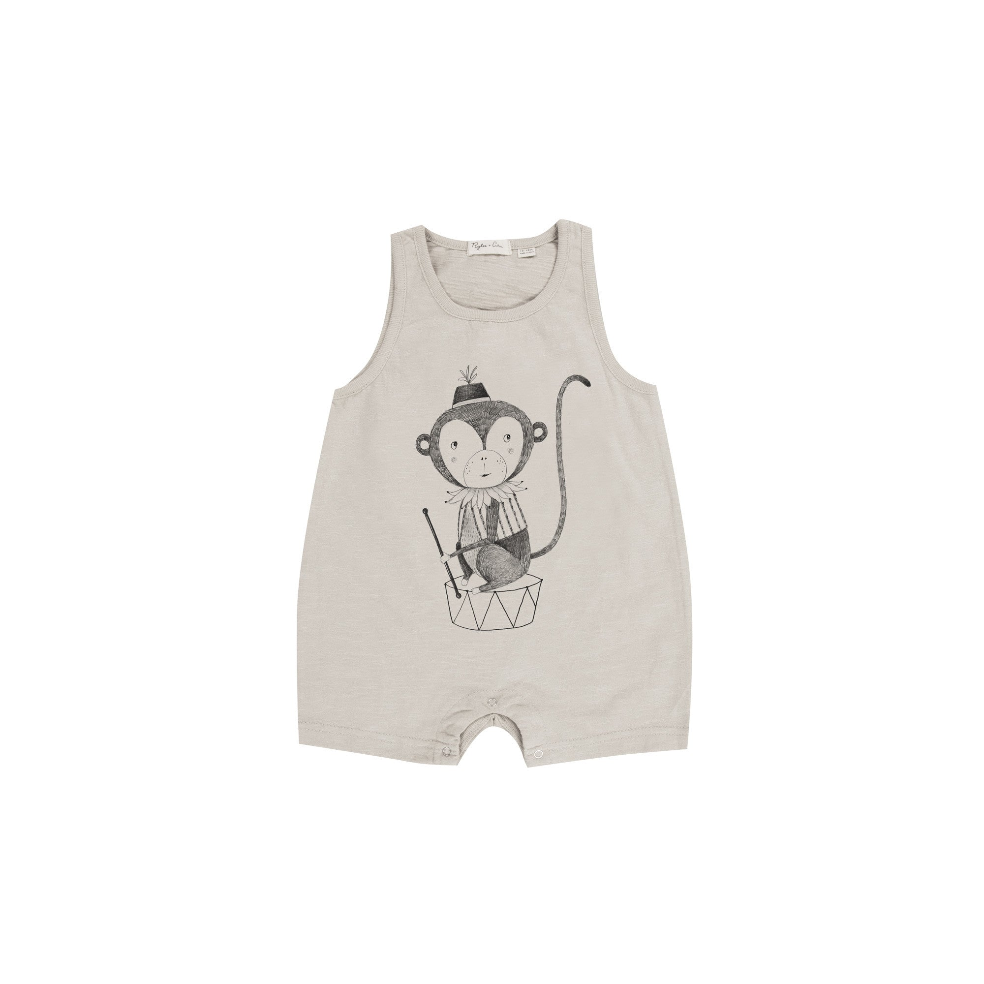 Monkey Romper by Rylee and Cru at Bonjour Baby Baskets