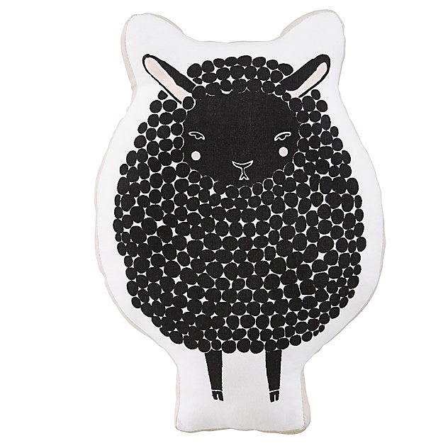 Black Sheep Nursery Pillow and Toy at Bonjour Baby Baskets