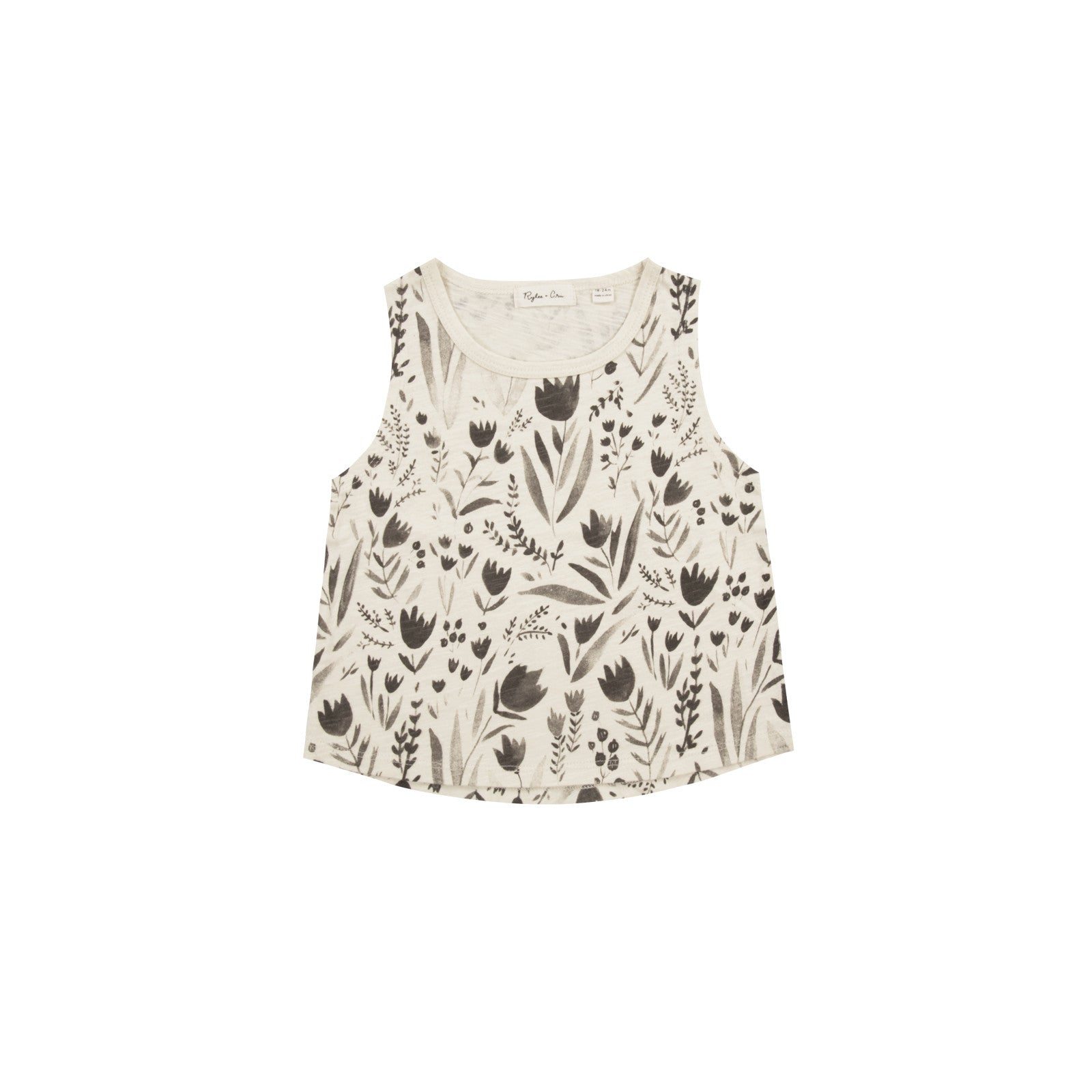 Baby Tank Top with Flora Print by Rylee and Cru