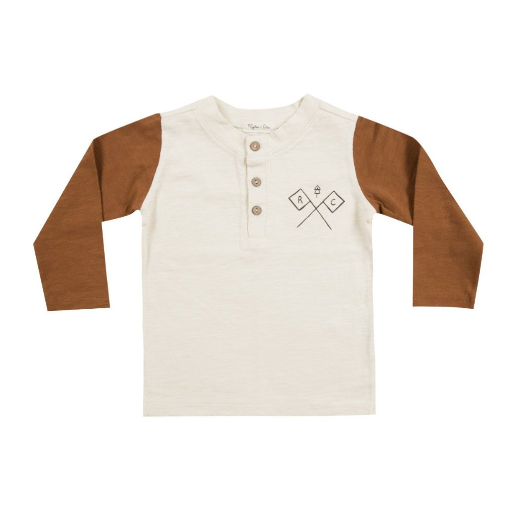 Baby longsleeves tee in two colours with Adventure print by Rylee and Cru