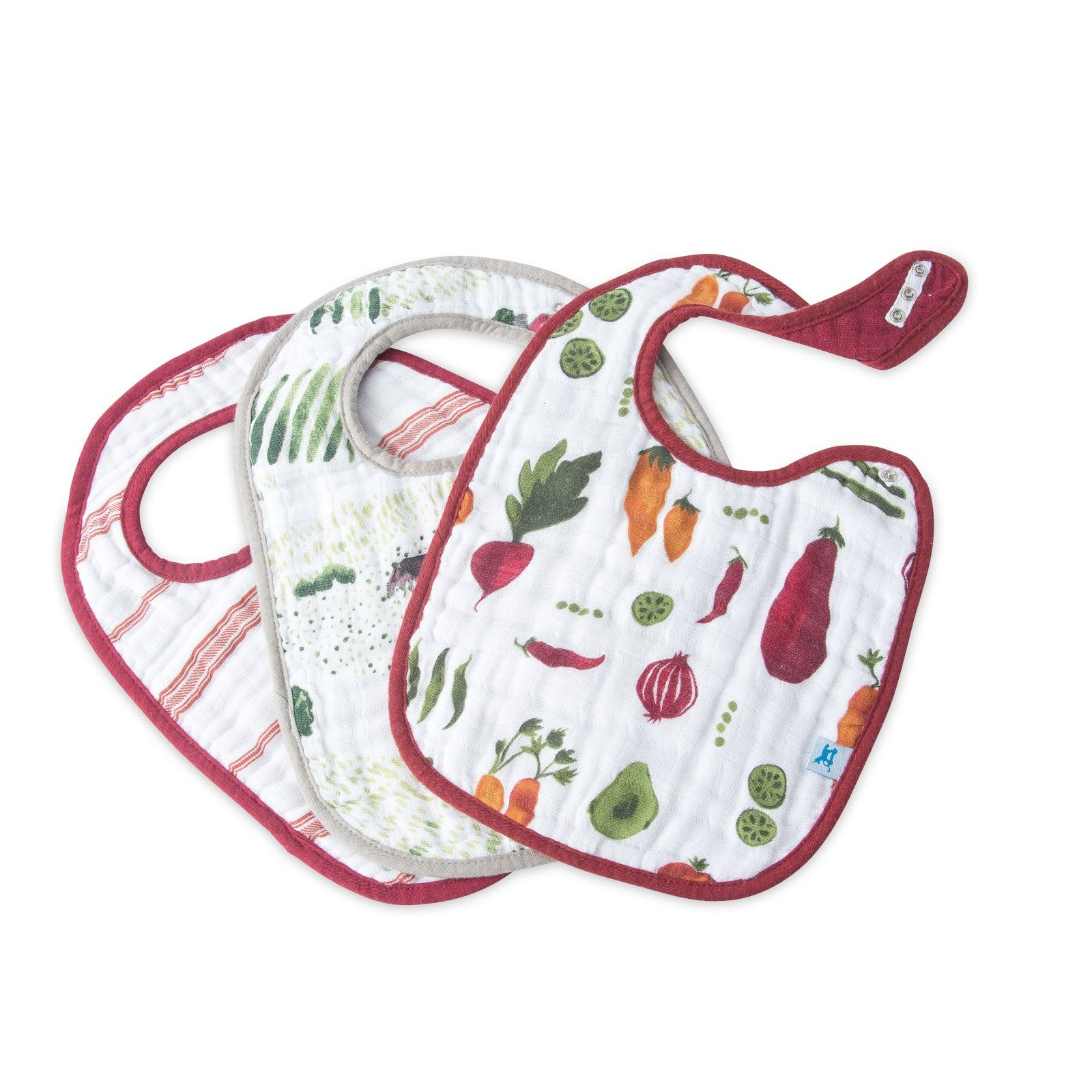 Little Unicorn Classic Bibs Farmers Market at Bonjour Baby Baskets - Luxury Baby Gifts