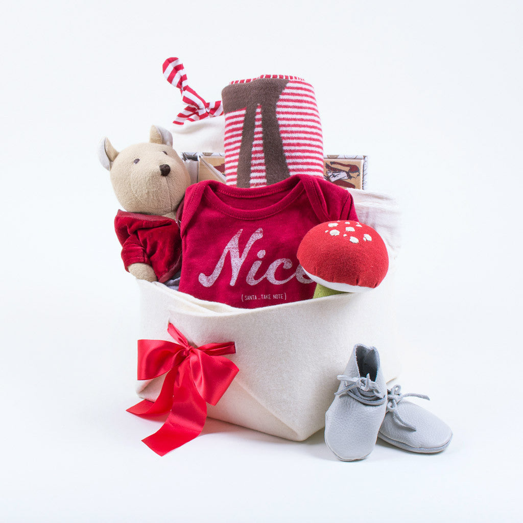 One-of-a-Kind Baby First Christmas Gift Basket – Bonjour Baby ...
