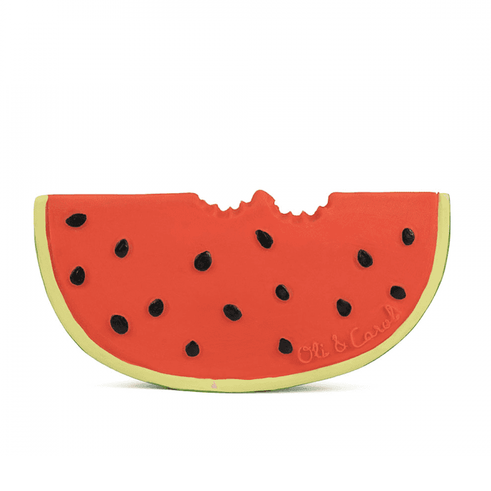 Wally the Watermelon Natural Rubber Baby Teether