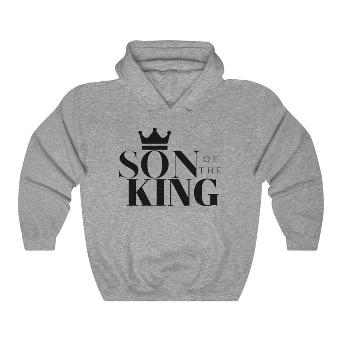 SON Of THE KING Hooded Sweatshirt (Black text)