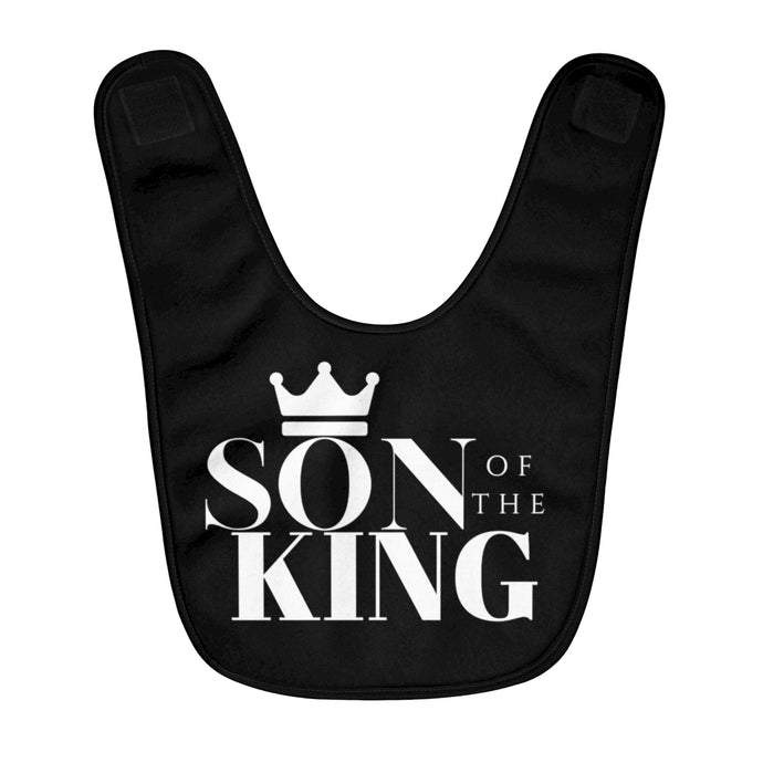SON Of THE KING Fleece Baby Bib (Black)