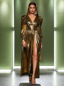 Holiday Gold Dress: Size Medium