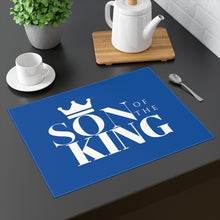 Load image into Gallery viewer, SON Of THE KING Placemat (White on Navy)