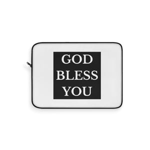 GOD BLESS YOU Laptop Sleeve (White)