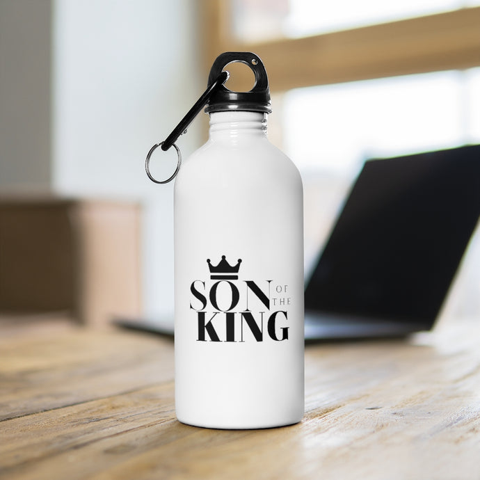SON Of THE KING Stainless Steel Water Bottle (White w/Blk)