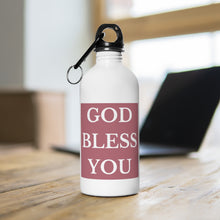 Load image into Gallery viewer, GOD BLESS YOU Stainless Steel Water Bottle (Rose Gold)