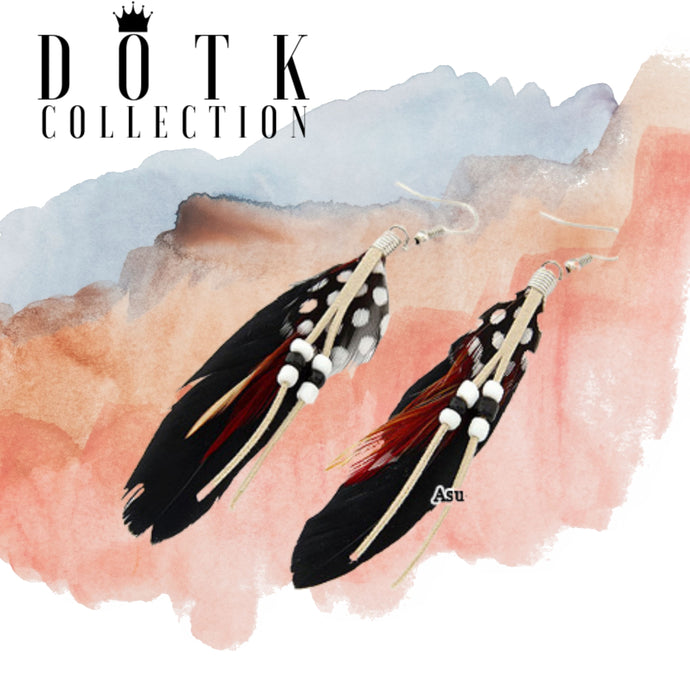 EARRINGS (Indian Black)