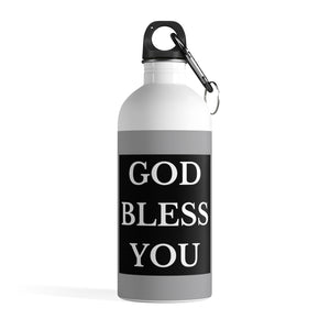 GOD BLESS YOU Stainless Steel Water Bottle (White/Grey/Black)
