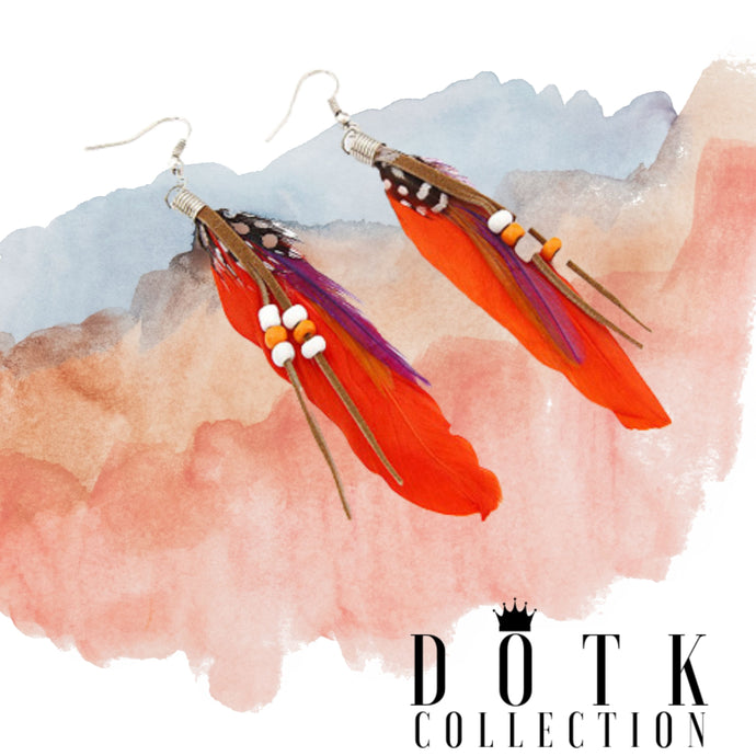 EARRINGS (Indian Orange)