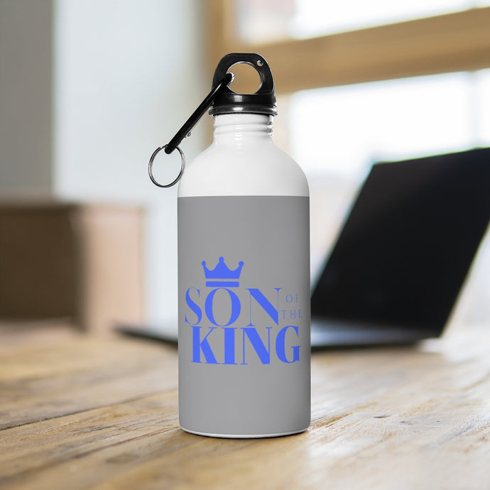 SON Of THE KING Stainless Steel Water Bottle (Blue on Grey)