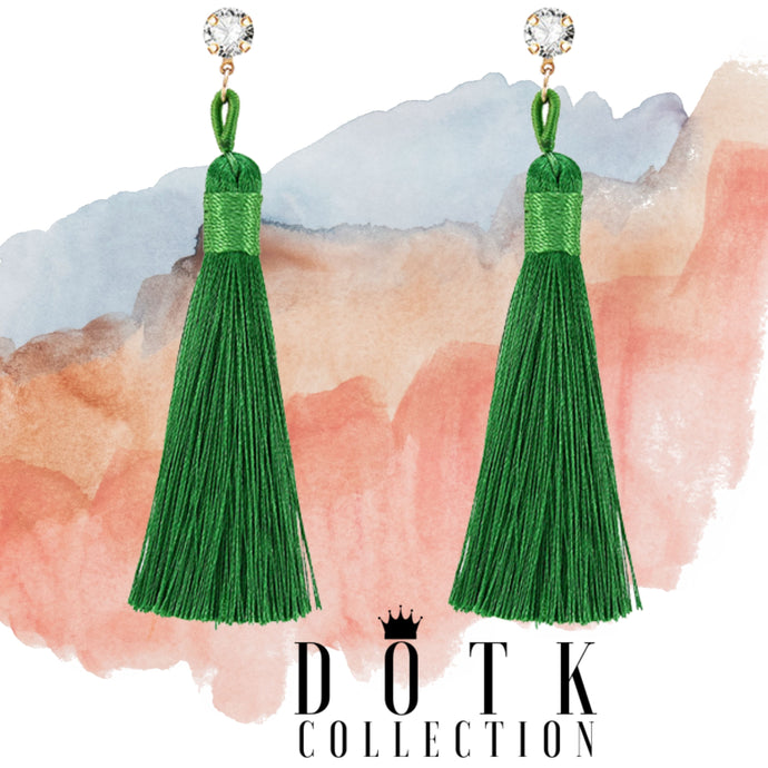 EARRINGS (Tassel) Green