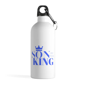 SON Of THE KING Stainless Steel Water Bottle (Blue on White)