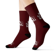 Load image into Gallery viewer, SON Of THE KING Top Socks (Dark Wine)
