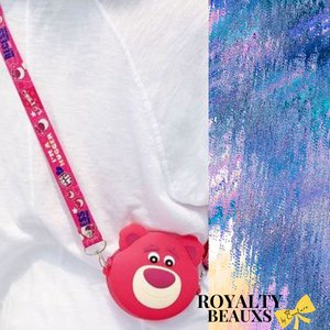 ROYALTY BEAUXS Coin Purse (Strawberry Bear)