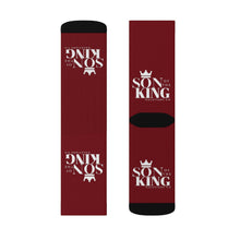 Load image into Gallery viewer, SON Of THE KING Top Socks (Wine)