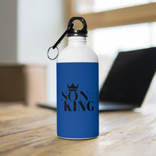 Load image into Gallery viewer, SON Of THE KING Stainless Steel Water Bottle (Blk on Blue)