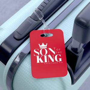 SON Of THE KING Bag Tag (White on Red)
