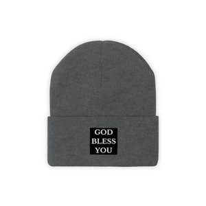 GOD BLESS YOU Knit Beanie