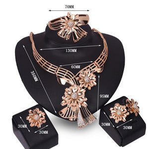 JEWELRY SET 4pc (Gold Bouquet)