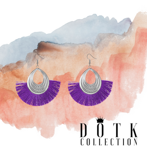 EARRINGS (Tutu Purple)
