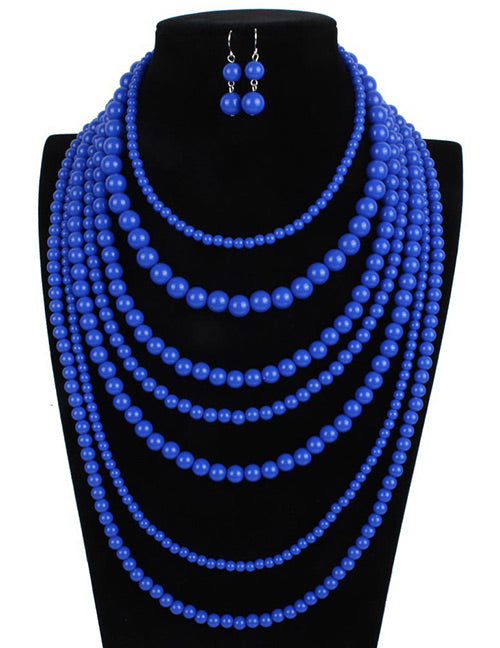 JEWELRY SET 2pc (Pearly Royal Blue)