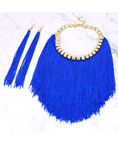 Load image into Gallery viewer, JEWELRY SET 2pc (Flamingo Royal Blue)