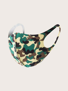 MASK Cloth Men/Unisex Face Mask (Army)