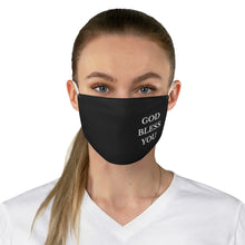 Load image into Gallery viewer, GOD BLESS YOU Fabric Face Mask (Side Print)