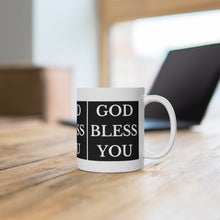 Load image into Gallery viewer, GOD BLESS YOU White Ceramic Mug