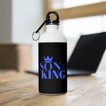 Load image into Gallery viewer, SON Of THE KING Stainless Steel Water Bottle (Blue on Black)