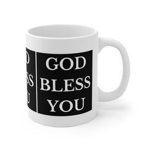 GOD BLESS YOU White Ceramic Mug
