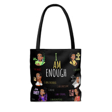 Load image into Gallery viewer, I AM ENOUGH Tote Bag