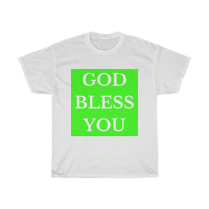 GOD BLESS YOU Lime Unisex Heavy Cotton Tee