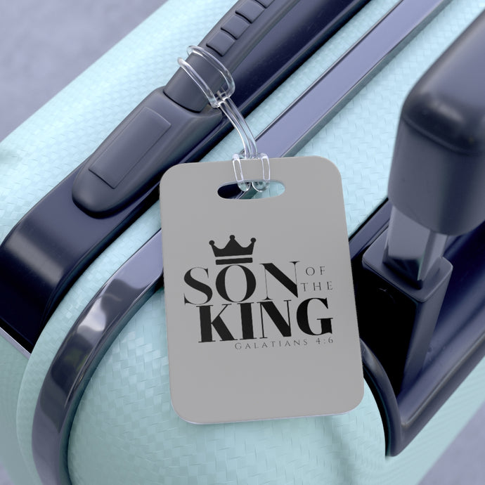 SON Of THE KING Bag Tag (Blk on Grey)