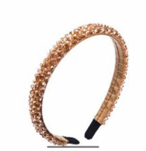 champagne crystal bead Head Band