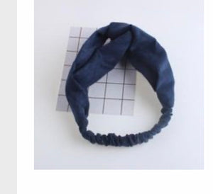 navy blue Headband wrap