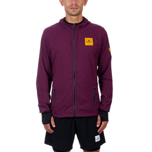 ランニングジャケット Combat Luxe Jacket - Mauve Wine Red / Asphalt Grey [ユニセックス] CMRJA06