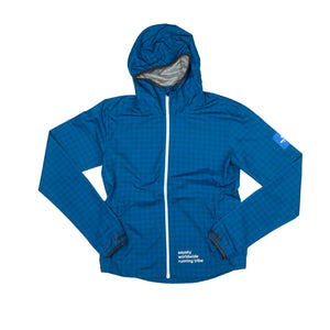 ランニングジャケット Wmns Checkerboard Pace Jacket - BLUE CHECKERBOARD [レディーズ] FGRJA01